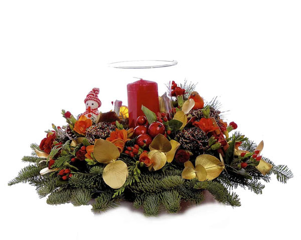 Picture of Christmas Candle Table Flowers